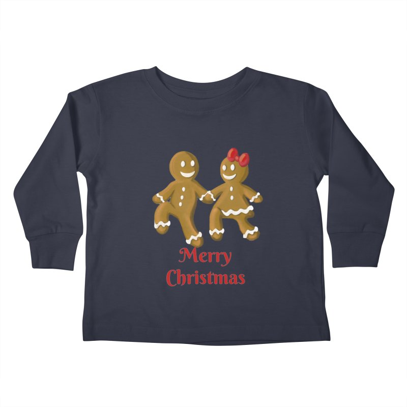 Gingerbread Christmas wish Kids Toddler Longsleeve T-Shirt by Cryste's Artist Shop