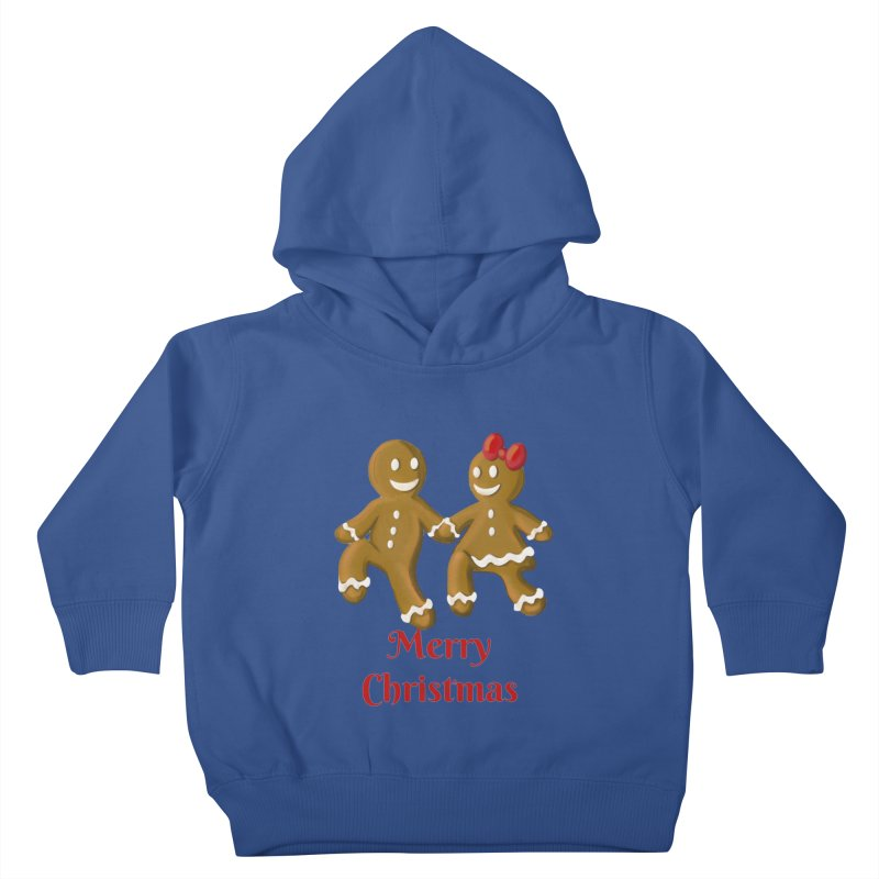 Gingerbread Christmas wish Kids Toddler Pullover Hoody by Cryste's Artist Shop