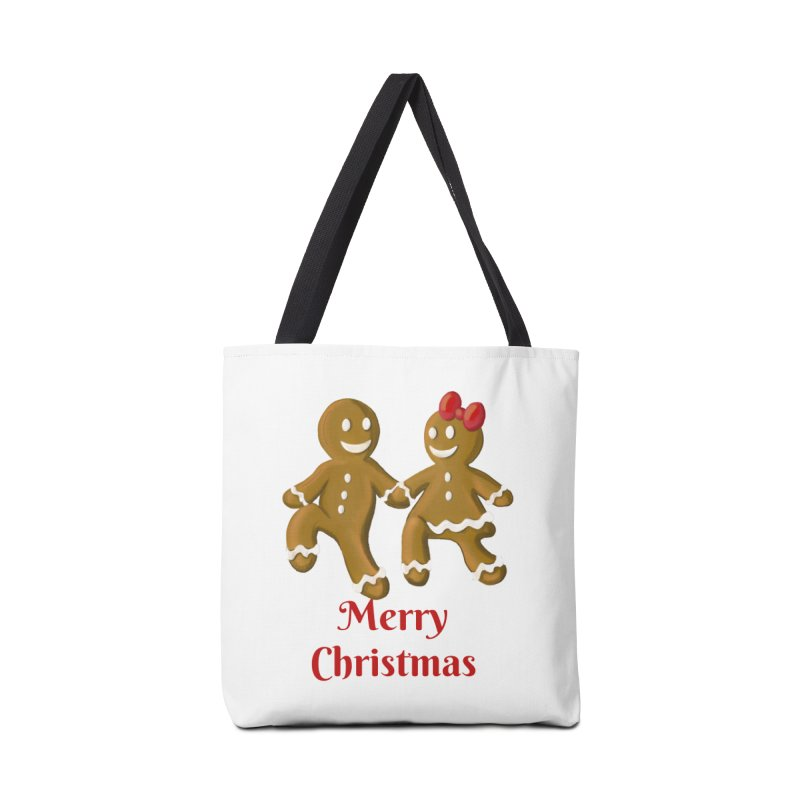 Gingerbread Christmas wish Accessories Tote Bag Bag by Cryste's Artist Shop