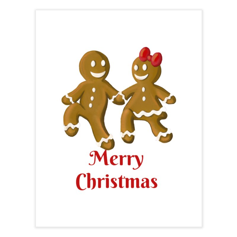Gingerbread Christmas wish Home Fine Art Print by Cryste's Artist Shop