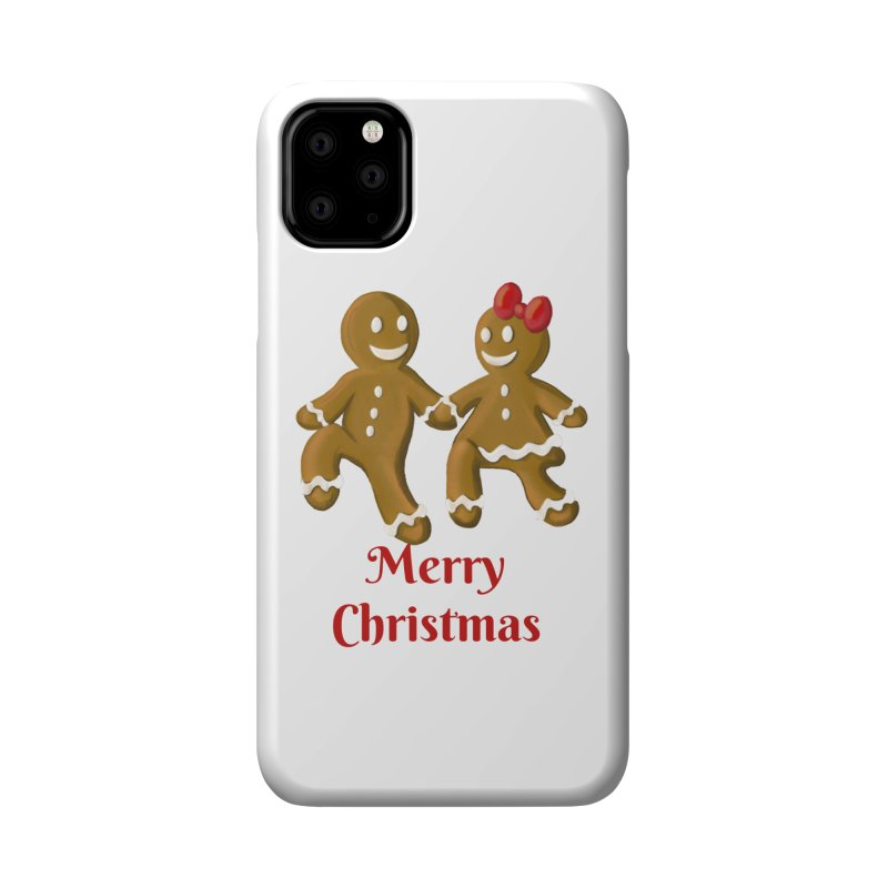 Gingerbread Christmas wish Accessories Phone Case by Cryste's Artist Shop