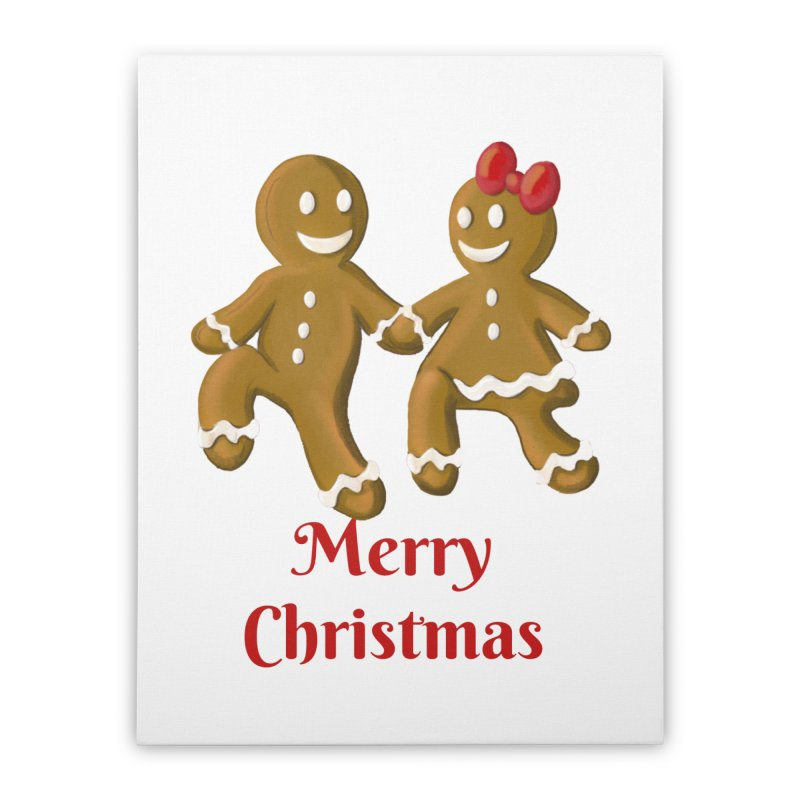 Gingerbread Christmas wish Home Stretched Canvas by Cryste's Artist Shop