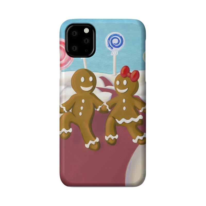 Gingerbread Christmas Accessories Phone Case by Cryste's Artist Shop