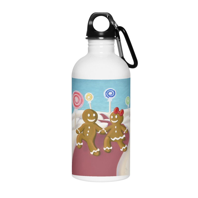 Gingerbread Christmas Accessories Water Bottle by Cryste's Artist Shop