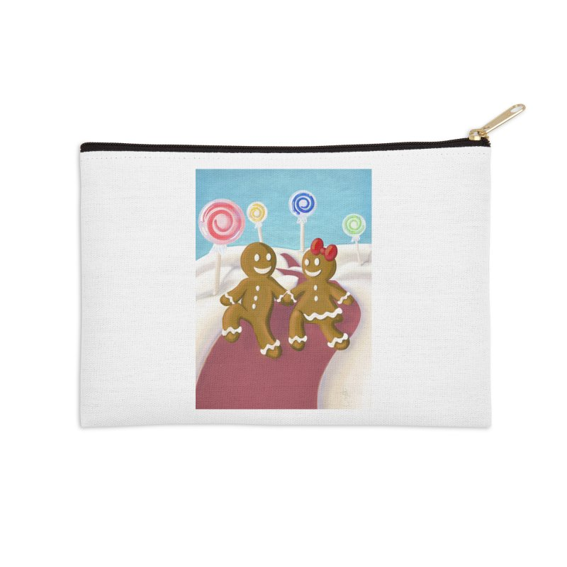 Gingerbread Christmas Accessories Zip Pouch by Cryste's Artist Shop