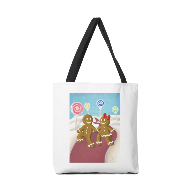 Gingerbread Christmas Accessories Tote Bag Bag by Cryste's Artist Shop