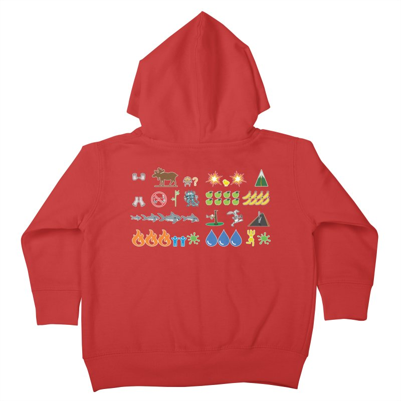 CSA Song Icons Kids Toddler Zip-Up Hoody by Camp St. Andrews