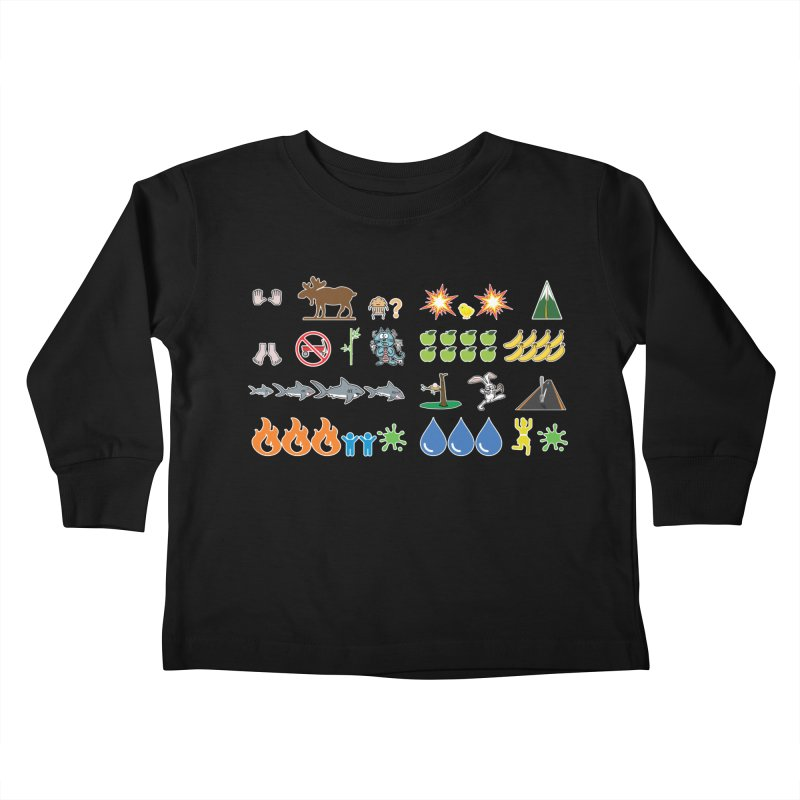 CSA Song Icons Kids Toddler Longsleeve T-Shirt by Camp St. Andrews