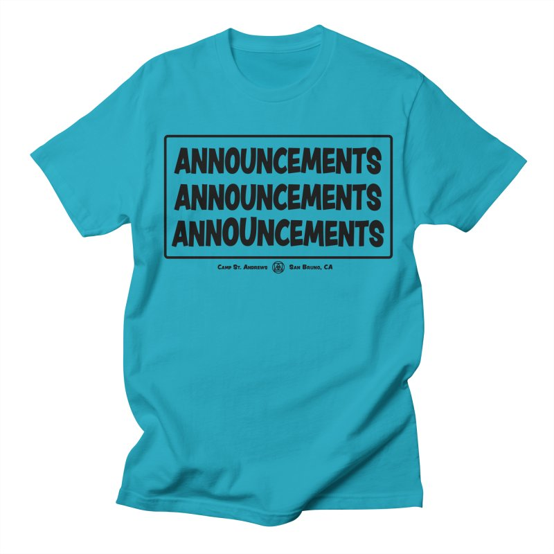 Announcements (black) Women's Unisex T-Shirt by Camp St. Andrews