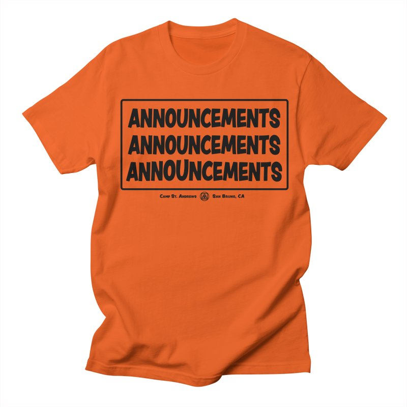 Announcements (black) Women's Unisex T-Shirt by Camp St. Andrews