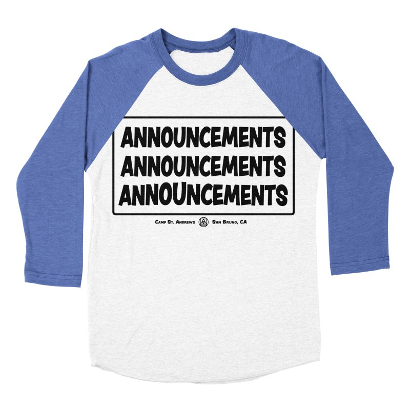 Announcements (black)   by Camp St. Andrews