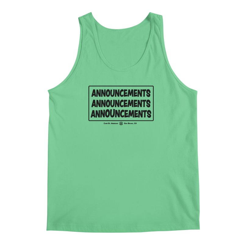Announcements (black) Men's Tank by Camp St. Andrews
