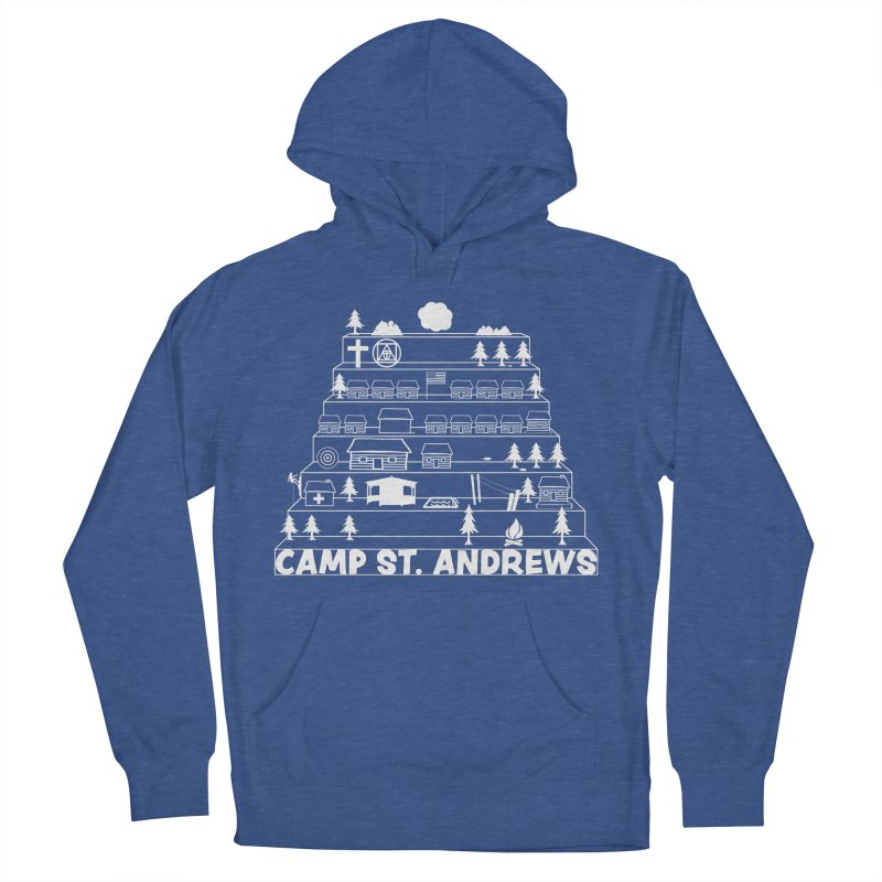 Stairs (white) Men's French Terry Pullover Hoody by Camp St. Andrews