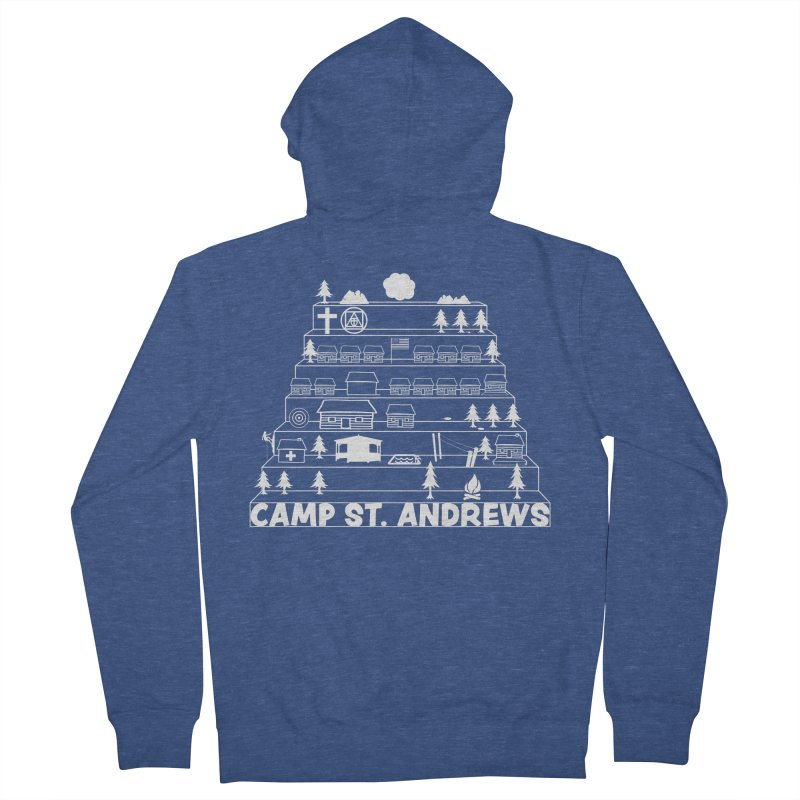 Stairs (white) Women's Zip-Up Hoody by Camp St. Andrews
