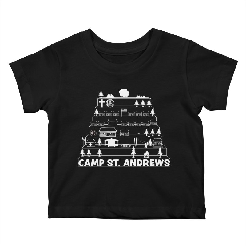 Stairs (white) Kids Baby T-Shirt by Camp St. Andrews
