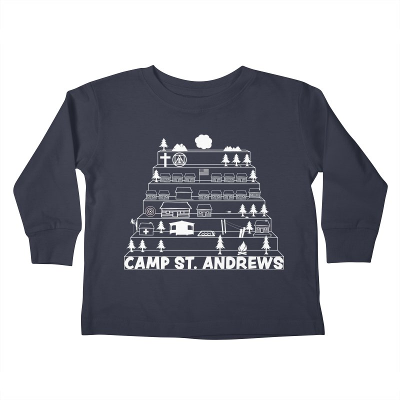 Stairs (white) Kids Toddler Longsleeve T-Shirt by Camp St. Andrews