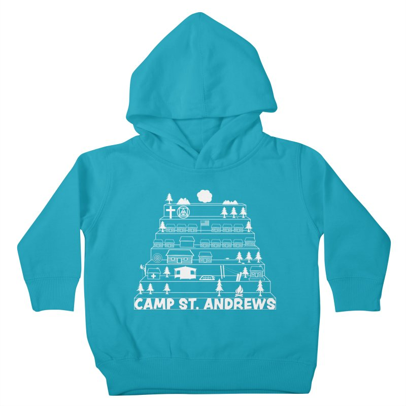Stairs (white) Kids Toddler Pullover Hoody by Camp St. Andrews