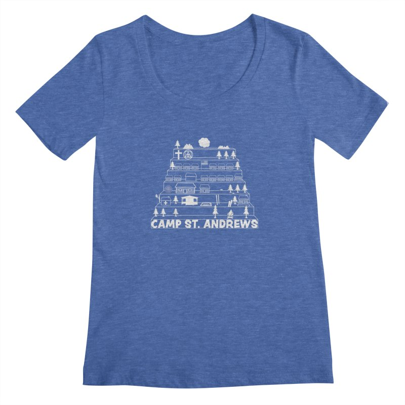 Stairs (white) Women's Scoopneck by Camp St. Andrews