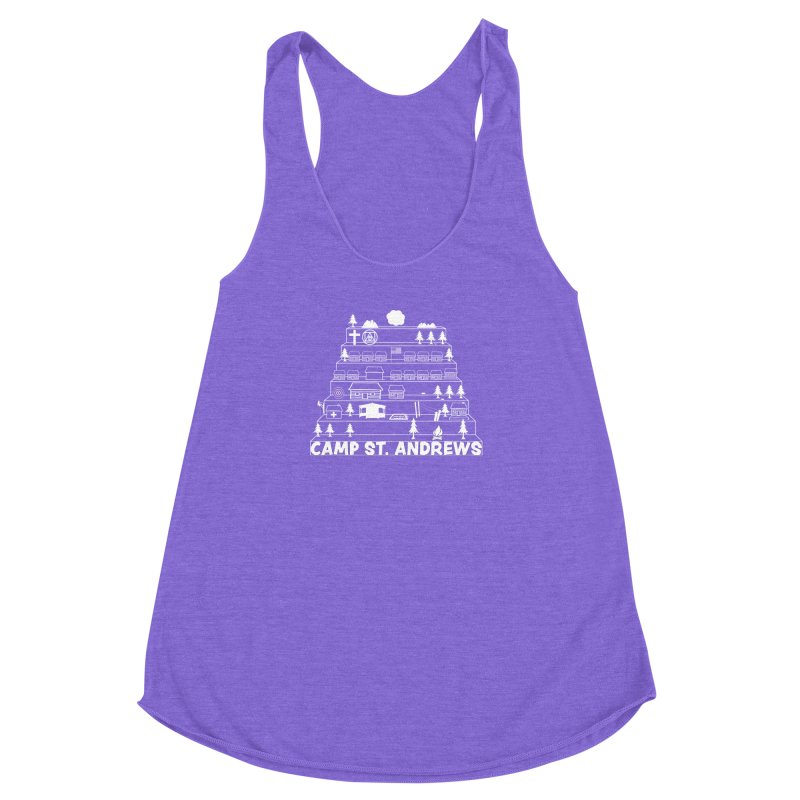 Stairs (white) Women's Racerback Triblend Tank by Camp St. Andrews