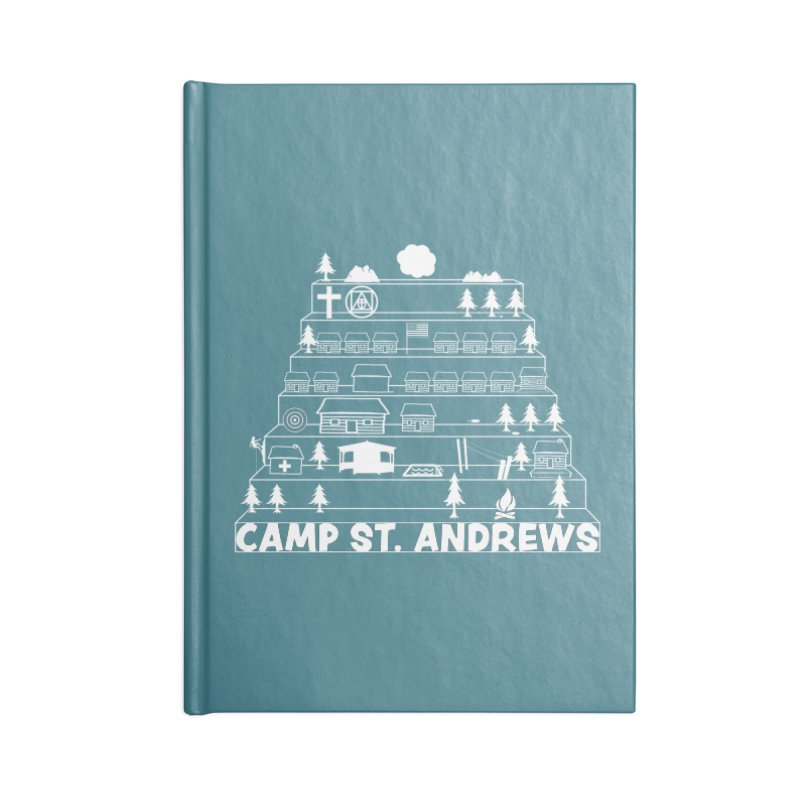 Stairs (white) Accessories Notebook by Camp St. Andrews