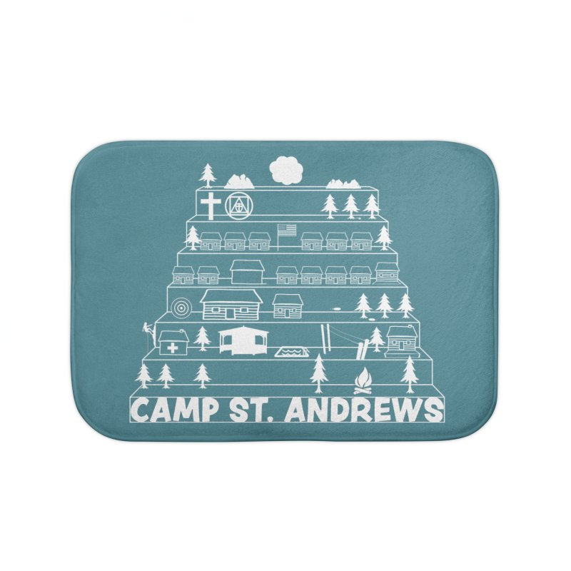 Stairs (white) Home Bath Mat by Camp St. Andrews