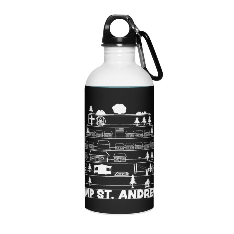 Stairs (white) Accessories Water Bottle by Camp St. Andrews