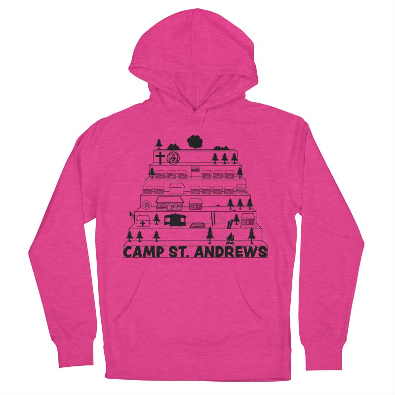 Stairs (black) Women's French Terry Pullover Hoody by Camp St. Andrews