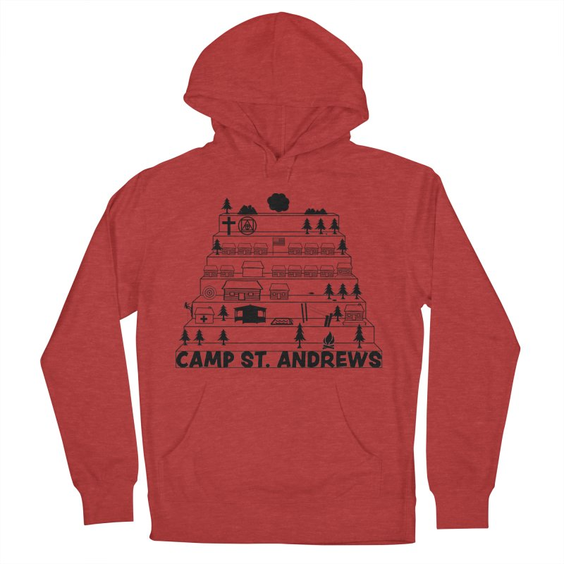 Stairs (black) Men's French Terry Pullover Hoody by Camp St. Andrews