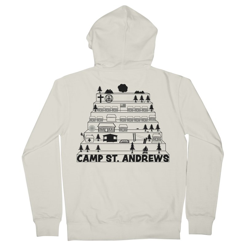 Stairs (black) Women's French Terry Zip-Up Hoody by Camp St. Andrews