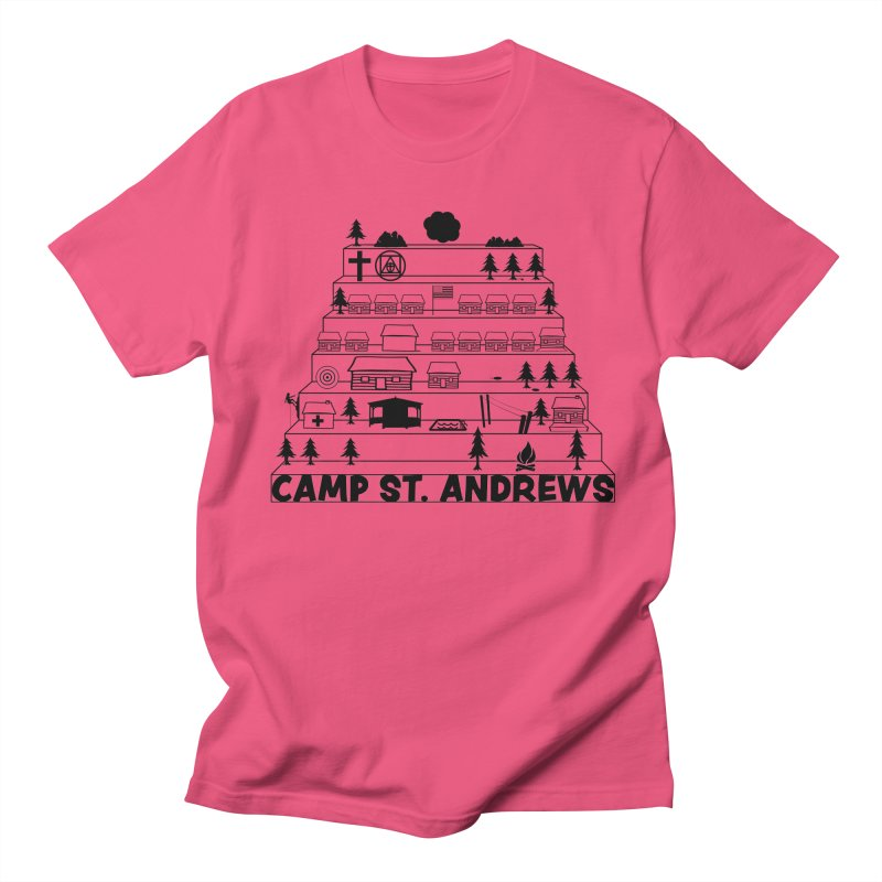 Stairs (black) Women's Regular Unisex T-Shirt by Camp St. Andrews
