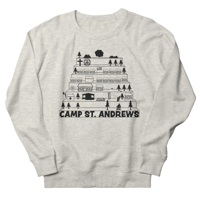 Stairs (black) Men's French Terry Sweatshirt by Camp St. Andrews