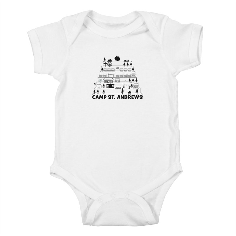 Stairs (black) Kids Baby Bodysuit by Camp St. Andrews