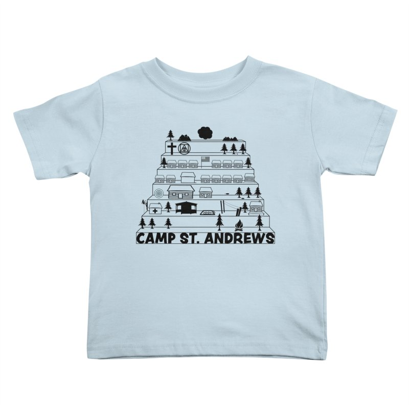 Stairs (black) Kids Toddler T-Shirt by Camp St. Andrews