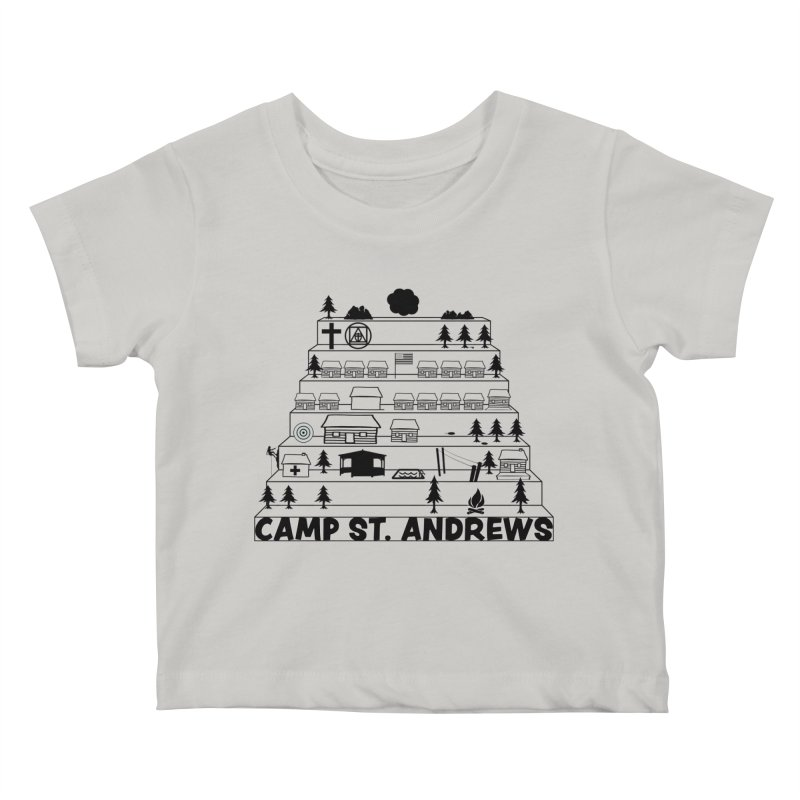 Stairs (black) Kids Baby T-Shirt by Camp St. Andrews