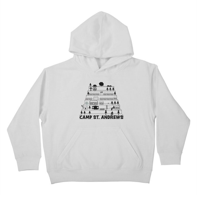 Stairs (black) Kids Pullover Hoody by Camp St. Andrews