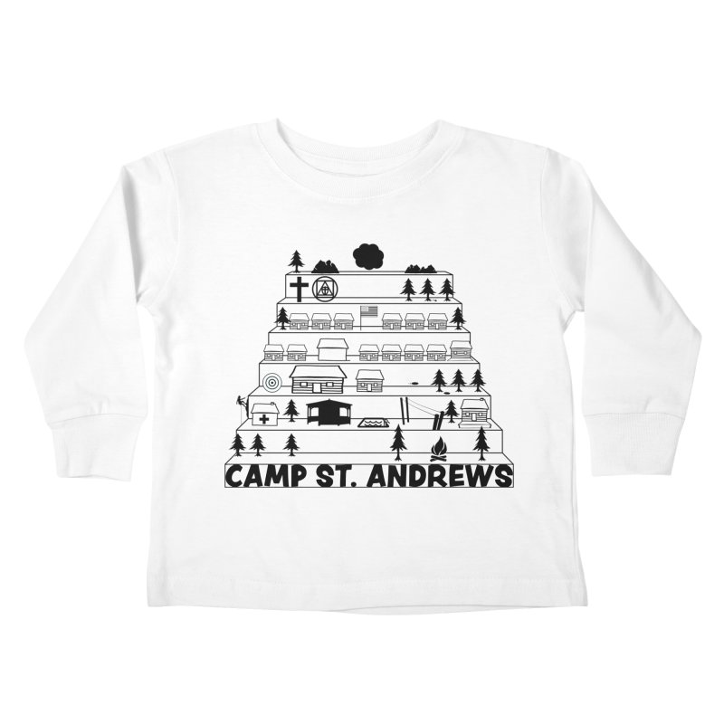 Stairs (black) Kids Toddler Longsleeve T-Shirt by Camp St. Andrews