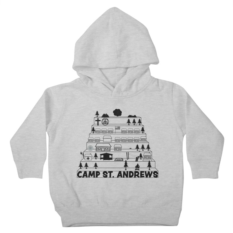 Stairs (black) Kids Toddler Pullover Hoody by Camp St. Andrews