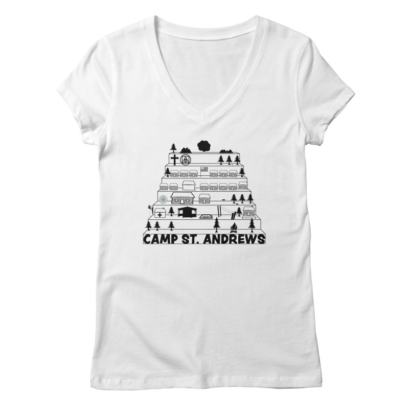 Stairs (black) Women's V-Neck by Camp St. Andrews