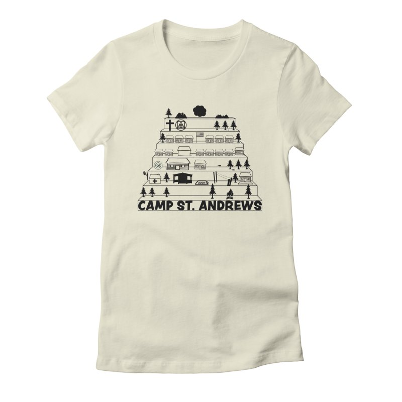 Stairs (black) Women's Fitted T-Shirt by Camp St. Andrews
