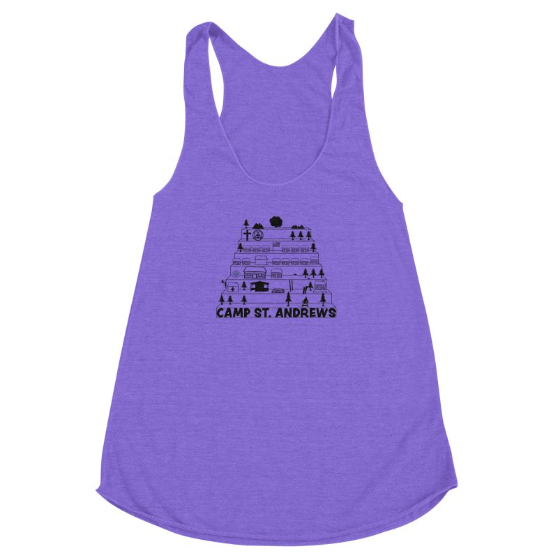 Stairs (black) Women's Racerback Triblend Tank by Camp St. Andrews