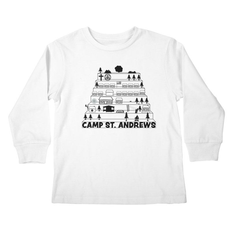 Stairs (black) Kids Longsleeve T-Shirt by Camp St. Andrews
