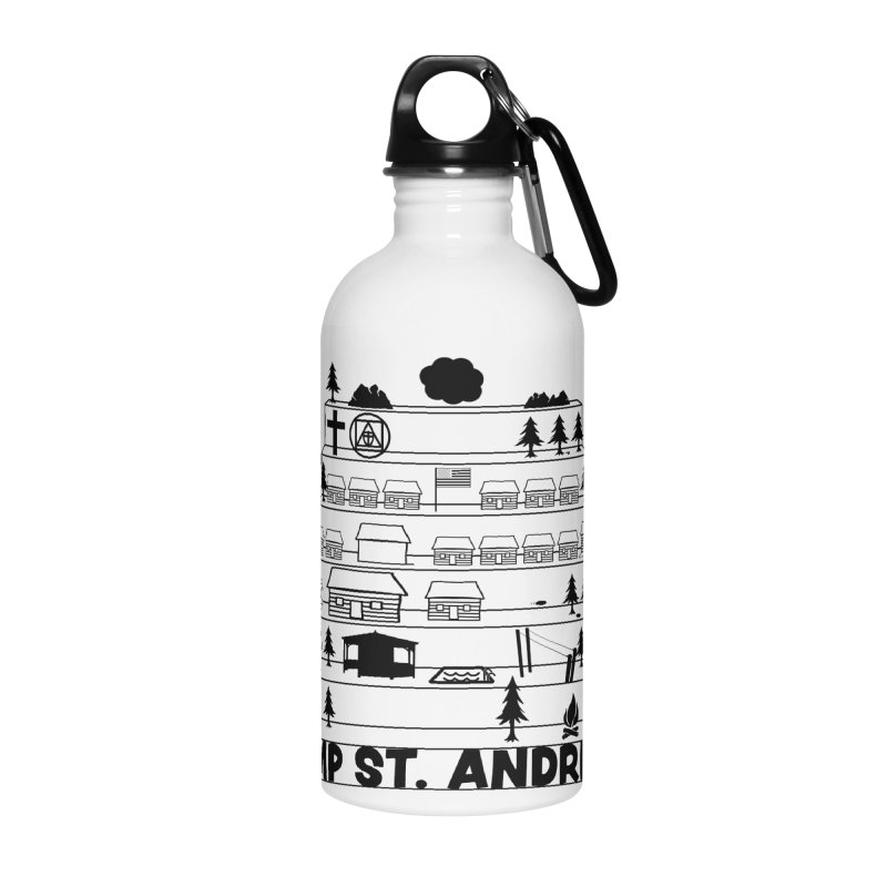 Stairs (black) Accessories Water Bottle by Camp St. Andrews