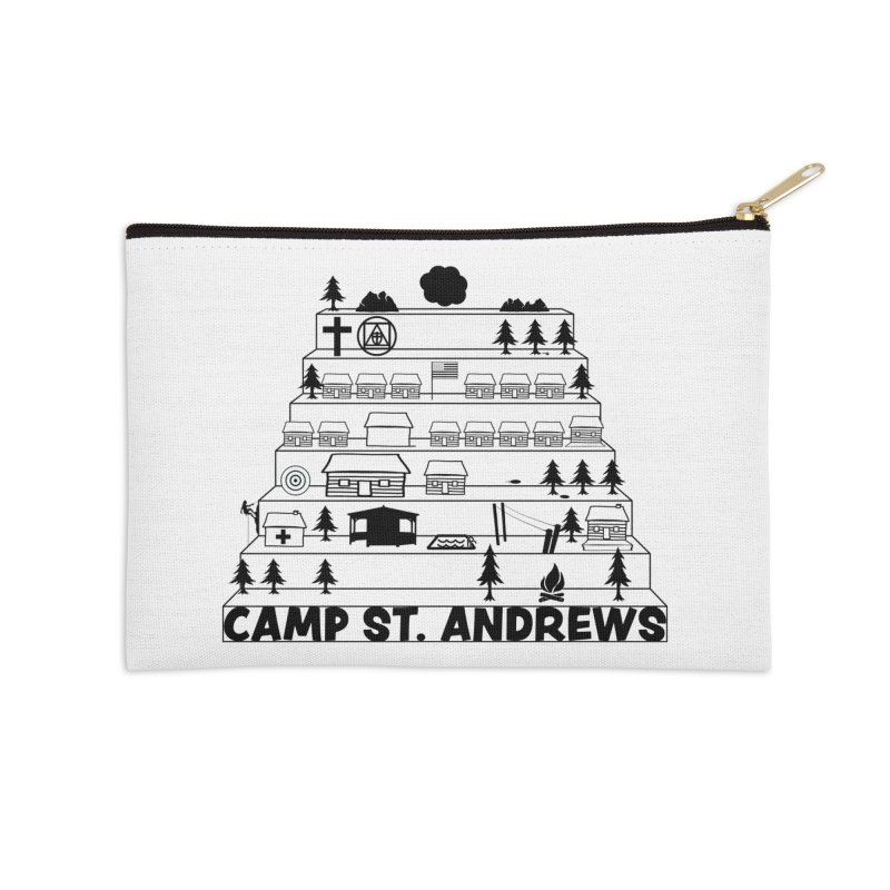 Stairs (black) Accessories Zip Pouch by Camp St. Andrews
