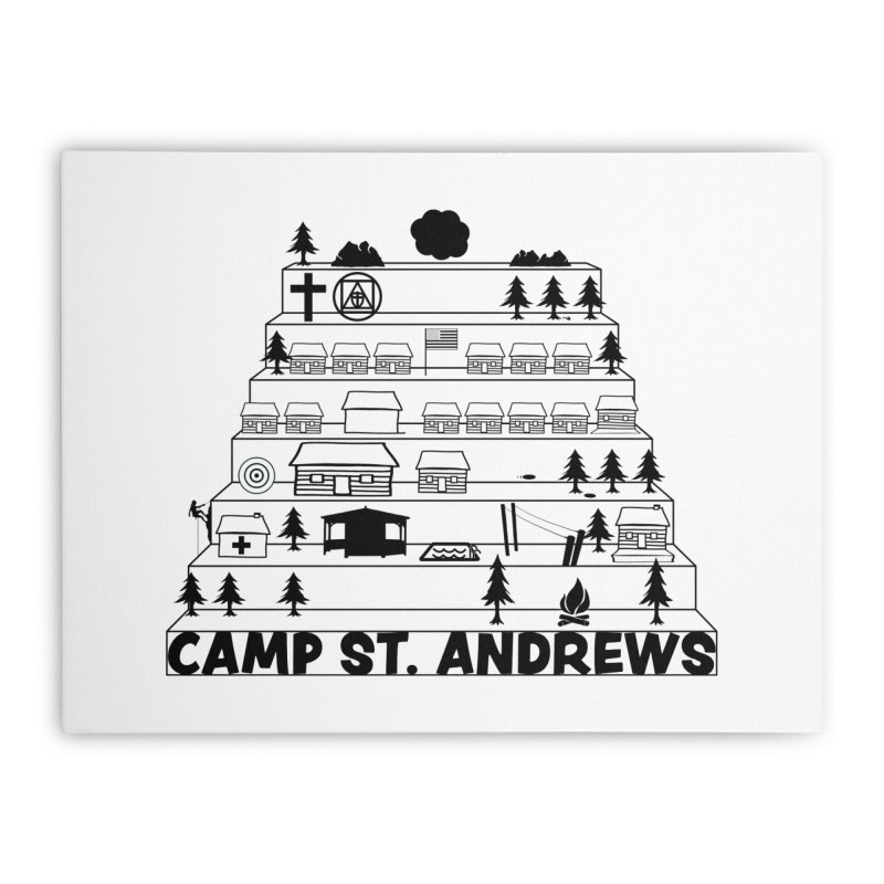 Stairs (black) Home Stretched Canvas by Camp St. Andrews