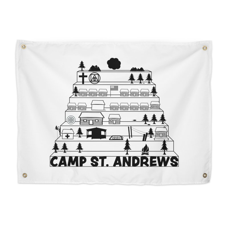 Stairs (black) Home Tapestry by Camp St. Andrews