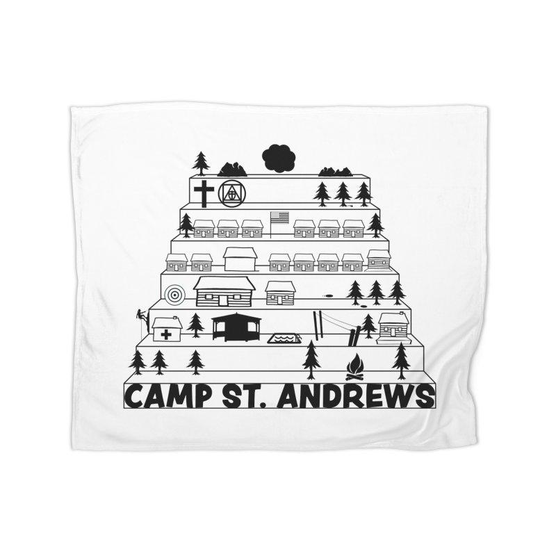 Stairs (black) Home Blanket by Camp St. Andrews