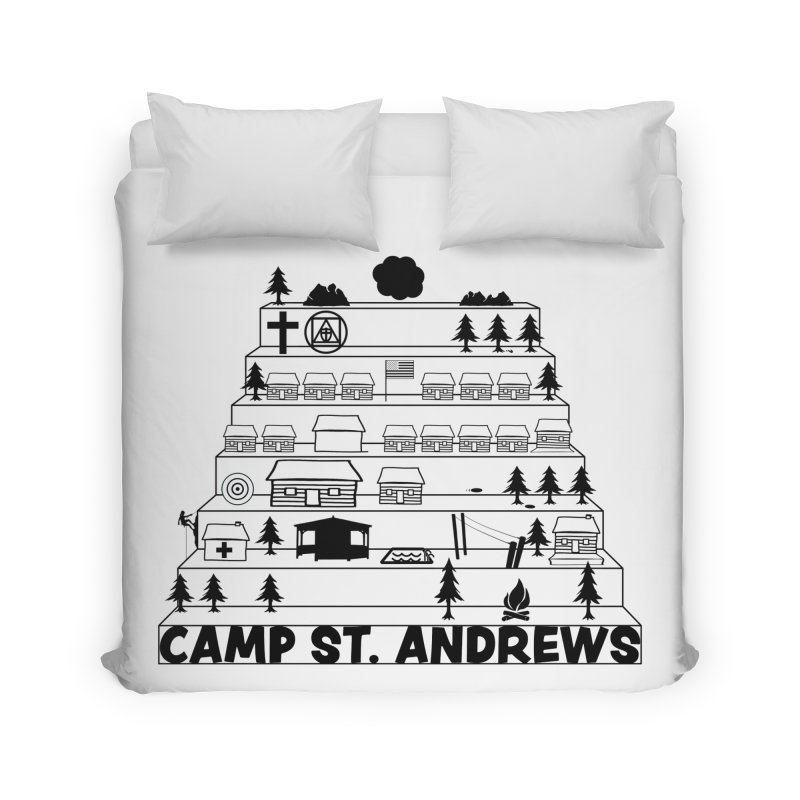 Stairs (black) Home Duvet by Camp St. Andrews
