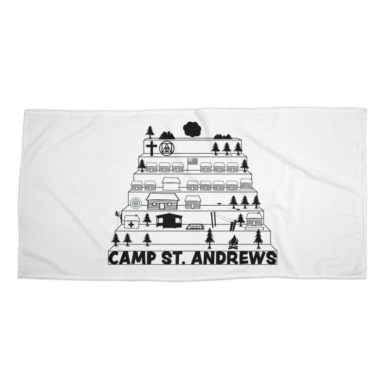 Stairs (black) Accessories Beach Towel by Camp St. Andrews