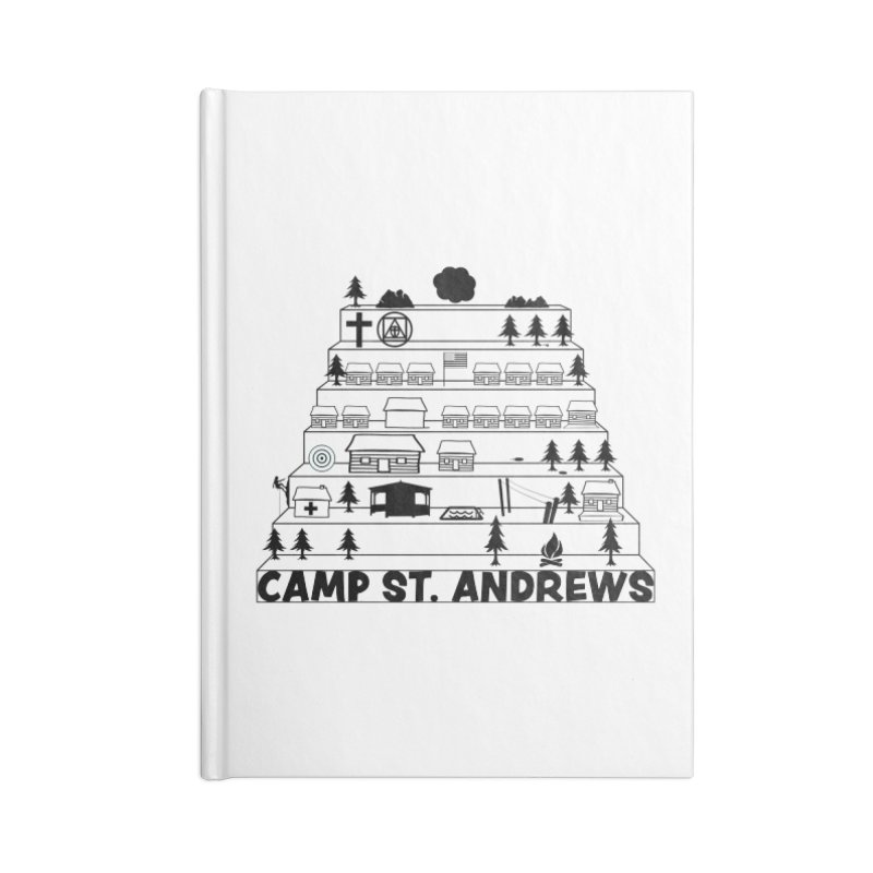 Stairs (black) Accessories Notebook by Camp St. Andrews