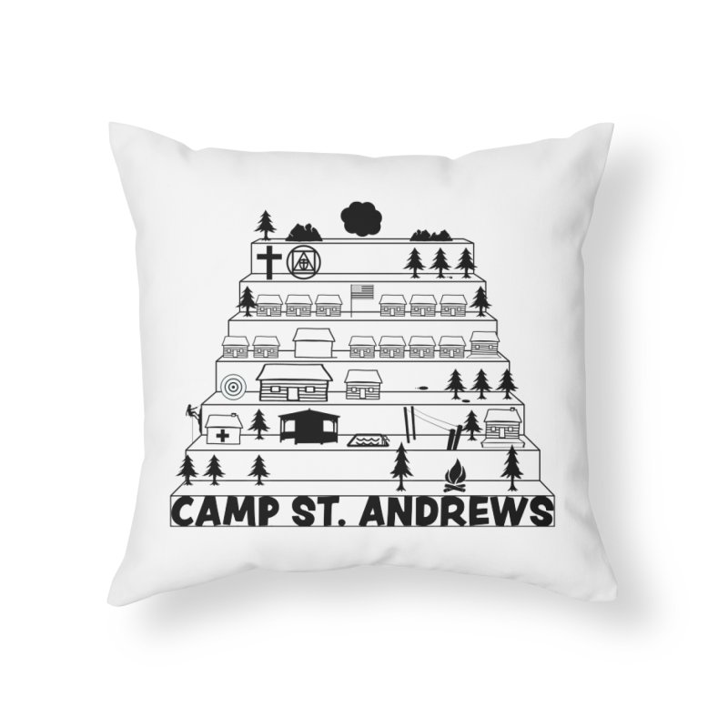 Stairs (black) Home Throw Pillow by Camp St. Andrews